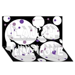 Decorative Circles   Purple Laugh Live Love 3d Greeting Card (8x4) by Valentinaart