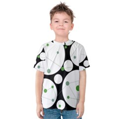 Decorative Circles   Green Kid s Cotton Tee by Valentinaart