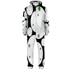 Decorative Circles   Green Hooded Jumpsuit (men)  by Valentinaart