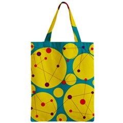 Yellow And Green Decorative Circles Zipper Classic Tote Bag by Valentinaart