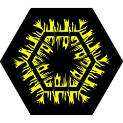 Yellow Abstract Pattern Mini Folding Umbrellas by Valentinaart