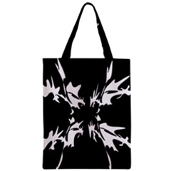 Black And White Pattern Zipper Classic Tote Bag by Valentinaart