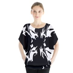 Black And White Pattern Blouse by Valentinaart