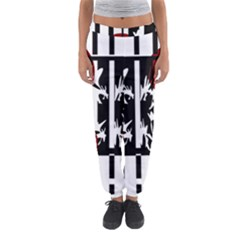 Red, Black And White Elegant Design Women s Jogger Sweatpants by Valentinaart