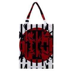 Red, Black And White Decorative Design Classic Tote Bag by Valentinaart
