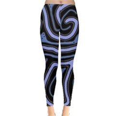Blue Abstract Design Leggings  by Valentinaart