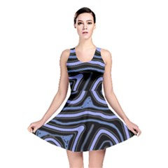 Blue Abstract Design Reversible Skater Dress by Valentinaart