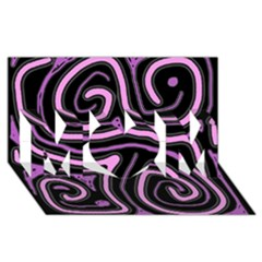 Purple Neon Lines Mom 3d Greeting Card (8x4) by Valentinaart