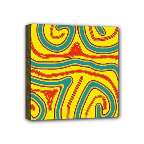 Colorful Decorative Lines Mini Canvas 4  X 4  by Valentinaart