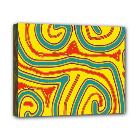 Colorful Decorative Lines Canvas 10  X 8  by Valentinaart