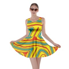 Colorful Decorative Lines Skater Dress by Valentinaart
