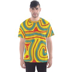 Colorful Decorative Lines Men s Sport Mesh Tee by Valentinaart