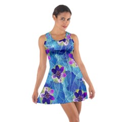 Purple Flowers Cotton Racerback Dress by DanaeStudio
