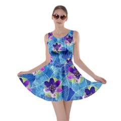 Purple Flowers Skater Dress
