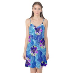 Purple Flowers Camis Nightgown