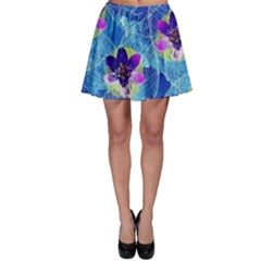 Purple Flowers Skater Skirt by DanaeStudio