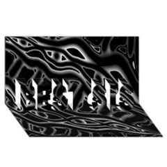 Black And White Decorative Design Best Sis 3d Greeting Card (8x4) by Valentinaart