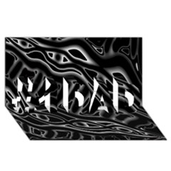 Black And White Decorative Design #1 Dad 3d Greeting Card (8x4)