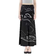 Black And White Maxi Skirts