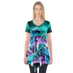 Horses Under A Galaxy Short Sleeve Tunic  by DanaeStudio