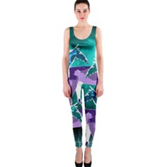 Horses Under A Galaxy Onepiece Catsuit