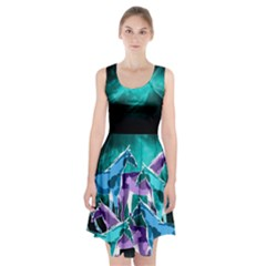 Horses Under A Galaxy Racerback Midi Dress