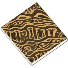 Brown Abstract Art Small Memo Pads by Valentinaart