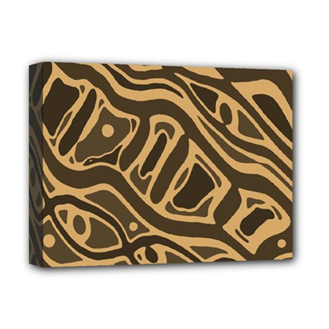 Brown Abstract Art Deluxe Canvas 16  X 12   by Valentinaart