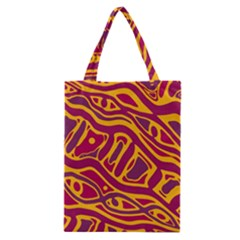 Orange Abstract Art Classic Tote Bag by Valentinaart