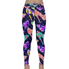 Colorful High Heels Pattern Yoga Leggings  by DanaeStudio