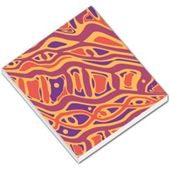 Orange Decorative Abstract Art Small Memo Pads by Valentinaart