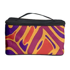 Orange Decorative Abstract Art Cosmetic Storage Case by Valentinaart