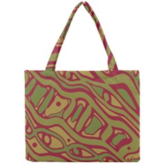 Brown Abstract Art Mini Tote Bag by Valentinaart