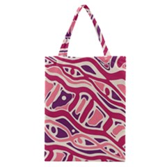 Pink And Purple Abstract Art Classic Tote Bag by Valentinaart