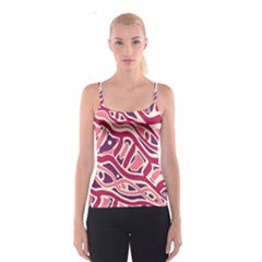 Pink And Purple Abstract Art Spaghetti Strap Top