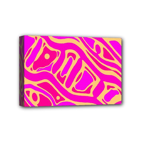 Pink Abstract Art Mini Canvas 6  X 4  by Valentinaart