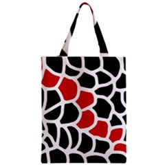 Red, Black And White Abstraction Zipper Classic Tote Bag by Valentinaart