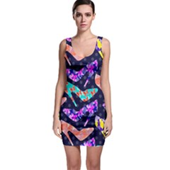 Colorful High Heels Pattern Bodycon Dress
