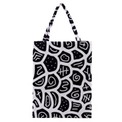 Black And White Playful Design Classic Tote Bag by Valentinaart