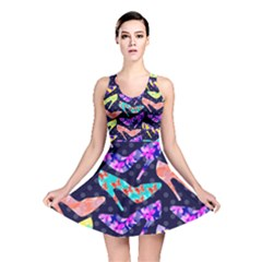 Colorful High Heels Pattern Reversible Skater Dress by DanaeStudio