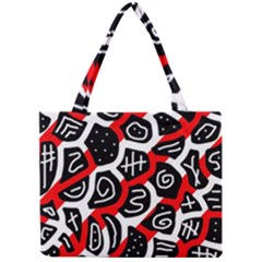 Red Playful Design Mini Tote Bag by Valentinaart