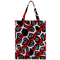 Red Playful Design Zipper Classic Tote Bag by Valentinaart