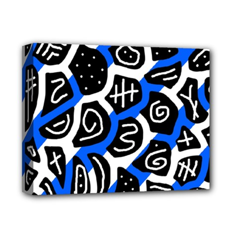 Blue Playful Design Deluxe Canvas 14  X 11  by Valentinaart