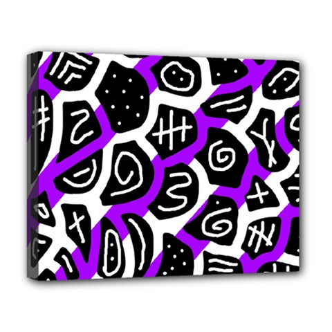 Purple Playful Design Deluxe Canvas 20  X 16   by Valentinaart