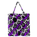 Purple playful design Grocery Tote Bag View1