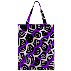 Purple Playful Design Zipper Classic Tote Bag by Valentinaart