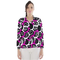 Magenta Playful Design Wind Breaker (women) by Valentinaart