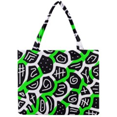 Green Playful Design Mini Tote Bag