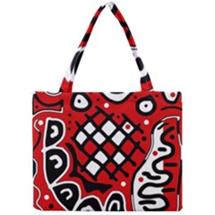 Red High Art Abstraction Mini Tote Bag by Valentinaart
