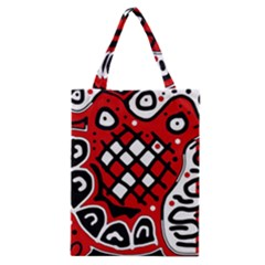 Red High Art Abstraction Classic Tote Bag by Valentinaart